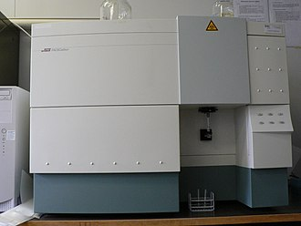 Flow cytometry - Front view of a desktop flow cytometer - the Becton-Dickinson fluorescence activated cell sorter (FACSCalibur)
