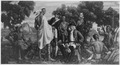FWA-PBA-Paintings and Sculptures for Public Buildings-painting depicting Indians and English soldiers meeting... - NARA - 195786.tif