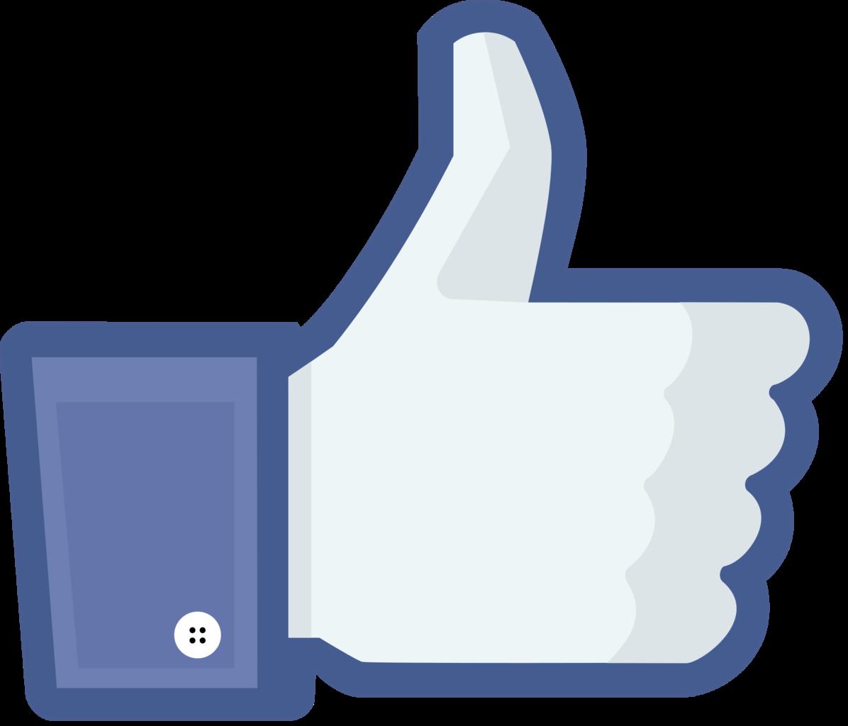 Icono me gusta facebook vector
