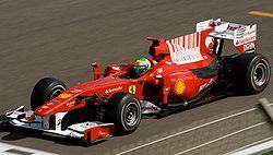 バーレーンGPでのF10フェリペ・マッサがドライブ
