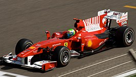 Felipe Massa in de F10, Bahrein International Circuit