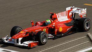 Ferrari F10 - Image: Felipe Massa Ferrari Bahrain 2010 GP