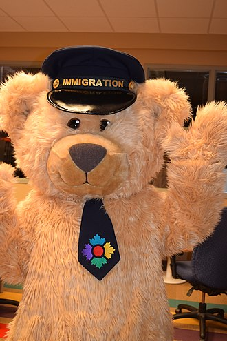 Canadian Museum of Immigration at Pier 21 - Fenton Bear, official mascot of the Canadian Museum of Immigration