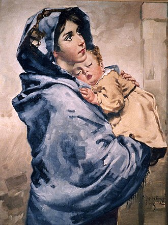Mary, mother of Jesus - Madonna of the Streets by Roberto Ferruzzi, c.1897.