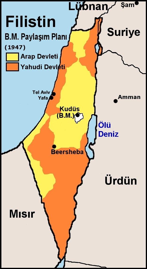 Filistin BM Paylasim Plani