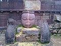 Fine rock art at Ranthambhore Fort.jpg
