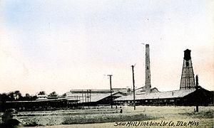D'Lo, Mississippi - Finkbine Lumber Company Sawmill, D'Lo, Mississippi, circa 1920