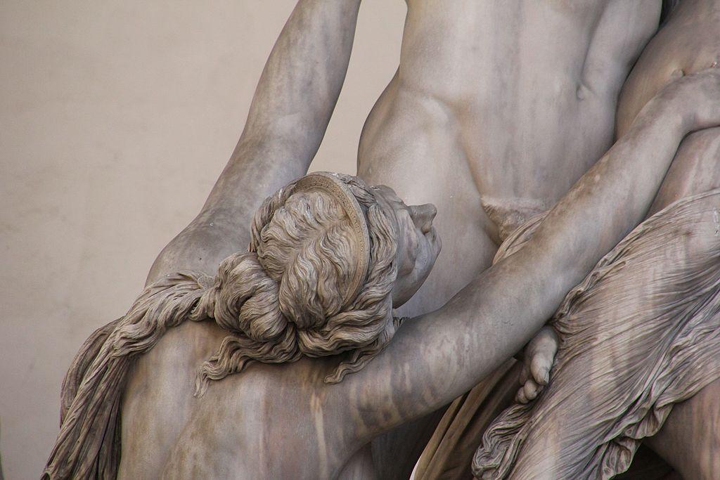 Pio Fedi, il Ratto di Polissena da Ecuba (particolare), 1855-1865, Loggia dei Lanzi, Piazza della Signoria, Firenze