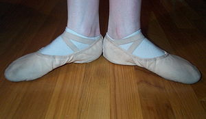 Turnout (ballet) - First position of the feet turned out