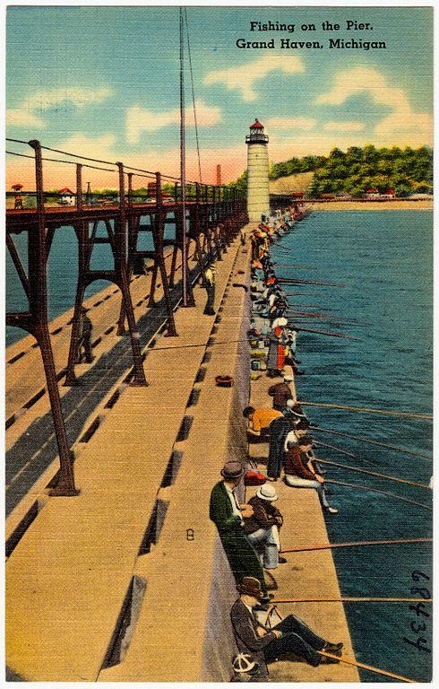 File fishing on the pier grand haven michigan 68434 for 13 fishing origin c