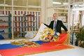 Flag Russian Federation for Kremlin in Moscow, 2012 штандарт Президента Российской Федерации на производстве.tif
