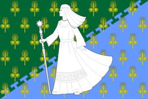 Loukhi - Image: Flag of Loukhi (Karelia)