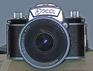 Ultra wide angle lens - Ihagee Exa camera with Carl Zeiss Jena Flektogon 1:4 20 mm super wide angle lens