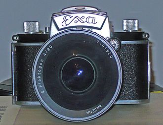Ultra wide angle lens - Ihagee Exa camera with Carl Zeiss Jena Flektogon 1:4 20 mm super wide angle lens