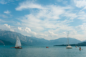 Attersee (lake) - Image: Flickr Laenulfean Attersee and surroundings (5)