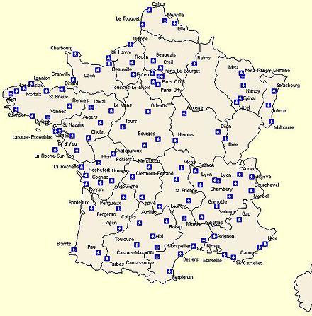 Flughäfen Deutschland Karte.Liste Von Flughäfen In Frankreich Wikipedia