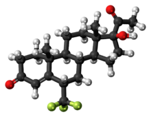Ball-and-stick model of the flumedroxone molecule
