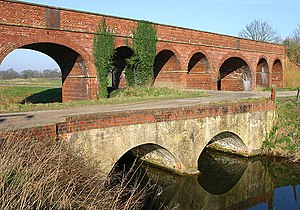 Axholme Joint Railway - The viaduct which carried the Axholme Joint Railway over the Folly Drain and the South Engine Drain