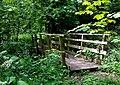 Footbridge across Stratford Brook, Shropshire - geograph.org.uk - 1304594.jpg