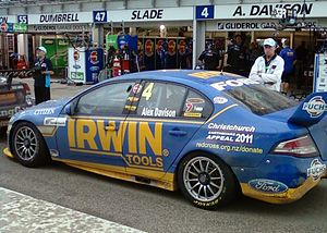 Alex Davison - The Ford FG Falcon of Alex Davison at the 2011 Clipsal 500 Adelaide
