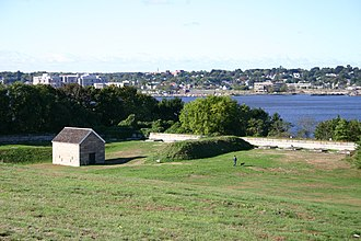 Battle of Groton Heights - Site of Fort Griswold Fort Griswold stands in Groton Heights overlooking the Thames River towards New London. The massacre took place here.