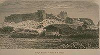 熱蘭遮城,1875年作品。