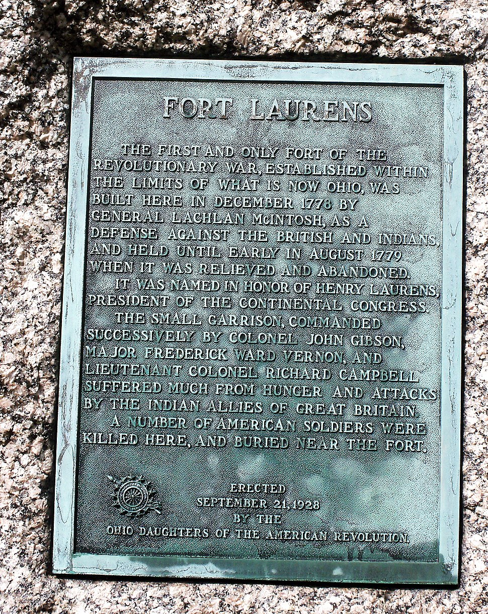 Fort Laurens plaque