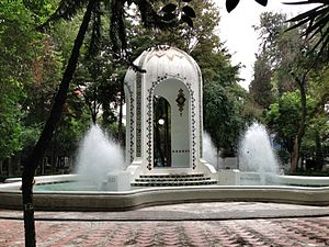 Condesa - Fountain at Plaza Popocatépetl