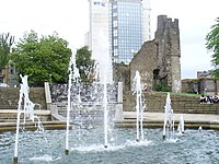 Fountain at Swansea Castle - geograph.org.uk - 1485046.jpg