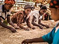 Four girls sorting coffee beans for size, Hawassa.jpg