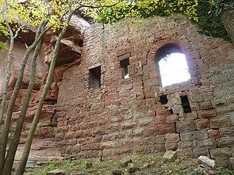 Château d'Ochsenstein - Exterior of south wall