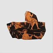Fragment of a terrracotta volute-krater (bowl for mixing wine and water) MET DP115790.jpg