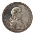 Framsida av medalj med bild av Karl XIII, 1810 - Skoklosters slott - 99574.tif