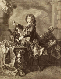 François Louis, Prince of Conti after a lost painting by Rigaud circa 1697 at the time of the princes proposed election to the Polish throne.png