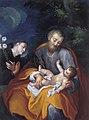 Francesco Pavona - Sv. Anton Padovanski časti dete v Jožefovem naročju.jpg