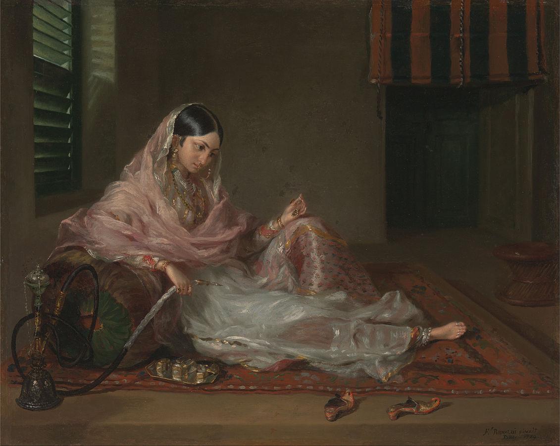 Muslim Lady Reclining