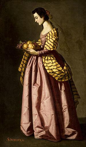 Dorothea of Caesarea - Saint Dorothy, Francisco de Zurbarán