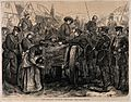 Franco-Prussian War; the Crown Prince visiting the wounded. Wellcome V0015502.jpg