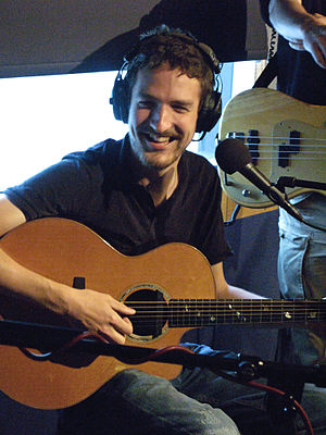 Frank Turner at an XFM radio session in London.