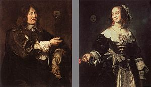 Isabella Coymans - Isabella with her husband Stephanus Geraerdts (d.1671)