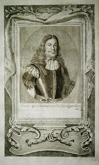Francis Charles of Saxe-Lauenburg - Image: Franz Carl Herzog von Sachsen Lauenburg