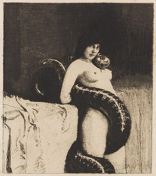 Franz von Stuck Die Sinnlichkeit c1889 cropped