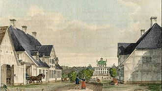 Fredensborg - Fredensborg in 1826,drawing by H. G. F. Holm