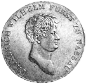 Frederick William, Prince of Nassau-Weilburg - Prince Frederick William in an old coin.