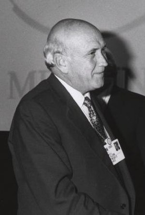 South African general election, 1994 - Image: Frederik Willem de Klerk