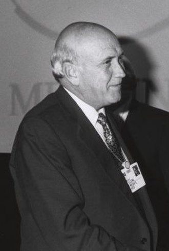 Negotiations to end apartheid in South Africa - F.W. de Klerk