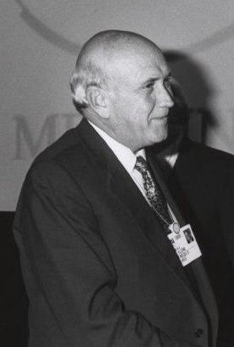 Félix Houphouët-Boigny Peace Prize - Image: Frederik Willem de Klerk