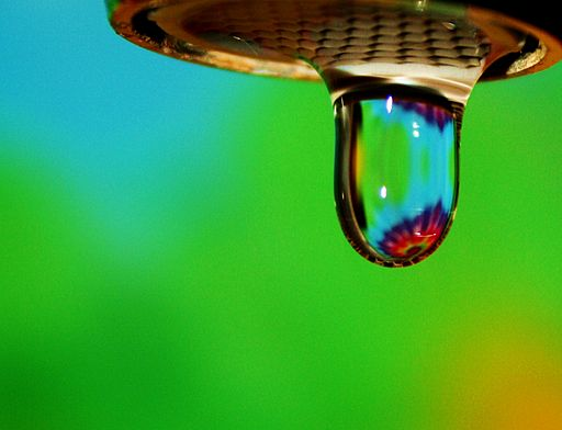 Free Happy Rainbow Water Droplet on Green