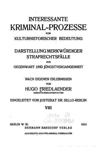 File:Friedlaender-Interessante Kriminal-Prozesse-Band 8 (1913).djvu