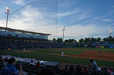 Northwest Arkansas playing against the Frisco RoughRiders in May 2017 Frisco RoughRiders vs. Northwest Arkansas Naturals May 2017 12.jpg